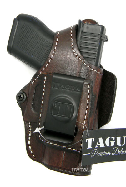 TAGUA RH Brown Leather Inside Outside Pants 4 in 1 Holster for GLOCK 43 43x