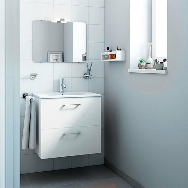 24 inch Modern Bathroom Vanity Set  Happy floating wall mounted  2 drawers