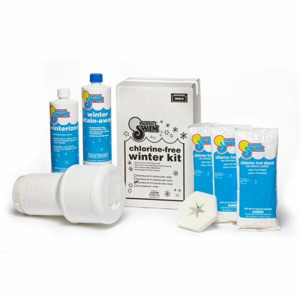 In The Swim Super Swimming Pool Winter Closing Kit Up To 35k Gallons Winterizing