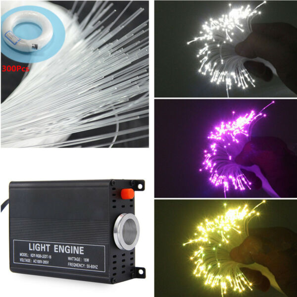 DIY Car LED Ceiling Light Fiber Optic Star Kit RGBW Light Source Remote Control