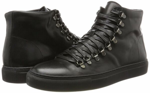 Mens Shoes Kenneth Cole Design 10775 Hi Top Sneakers KMF7LE071 Black *New*