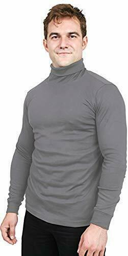 Turtleneck T Shirt For Men Long Sleeves Tailored Comfort Fit Lot Utopia Wear