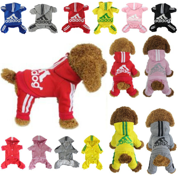 Dog Hoodies Sweatshirt Jumpsuit Casual Pet 4-Leg Small Adidog Clothes Warm