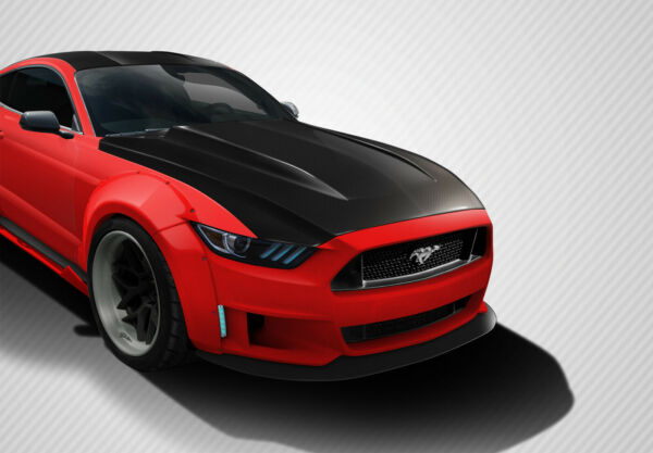 15 17 Ford Mustang Cowl Carbon Fiber Creations Body Kit Hood 112583 $928.00