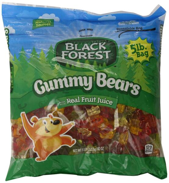 Black Forest Gummy Bears Ferrara Candy Natural and Artificial Flavors 5 Pound