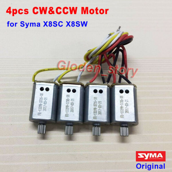 4PCS CW CCW Engine Motor Sets for SYMA X8SC X8SW RC Quadcopter Drone Spare Parts