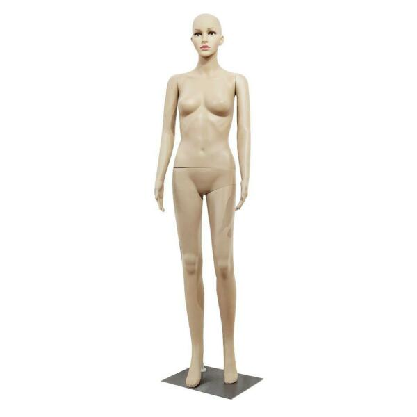Female Full Body Realistic Mannequin Display Head Turns Dress Form w/Base 175