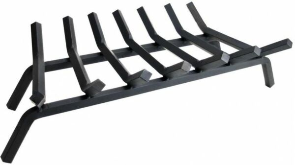 Fireplace Grate 34 in. 27 in. 7-Bar Solid Steel Rod Modern Transitional Style