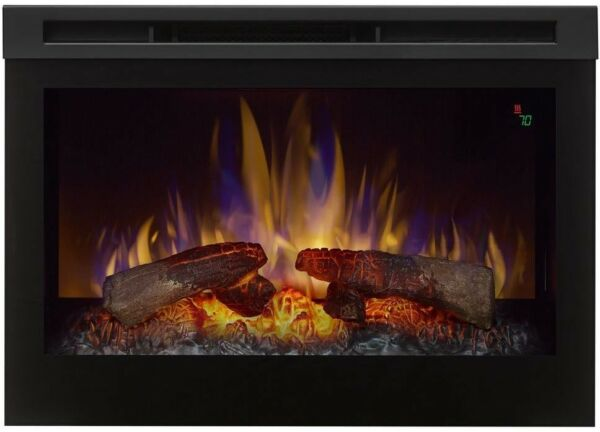 Electric Firebox Fireplace Insert Programmable Thermostat 25 in Remote Control