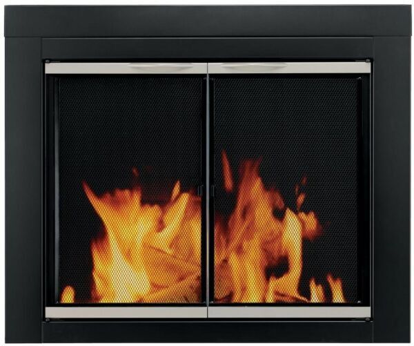 Fireplace Doors 3 16 in. Small Tempered Glass Cabine Style Surface Mount Design