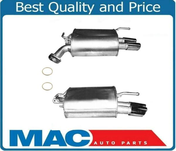 Brand New Rear Mufflers With Chrome Tips & Gaskets For Infiniti M35 06-10