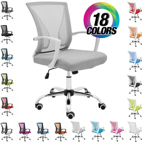 NEW! ZUNA OFFICE DESK CHAIR - MID-BACK MESH TASK CHAIR - ADJUSTABLE HEIGHT