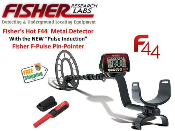 FISHER F44 METAL DETECTOR & THE NEW FISHER F-PULSE PIN-POINTER - SHIPS FREE