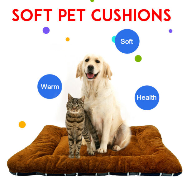 Soft Cozy Dog Cat Crate Kennel Cage Bed Pad Pet Cushion Warm House Blanket XS-XL