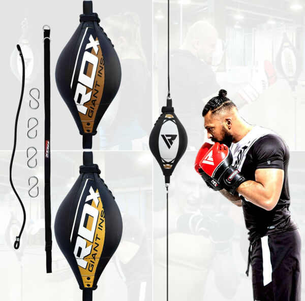 RDX Double End Speed Ball Boxing Dodge Bag MMA Punching Floor to Ceiling Rope US $39.99