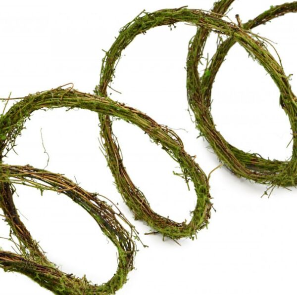 RUSTIC GREEN MOSS VINE TWIG ROPE GARLAND for CRAFTS FAIRY GARDEN or DECOR NWT $6.29