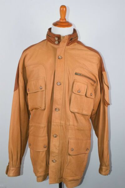 WILLIS & GEIGER Field Expedition Leather Jacket EXPLORER Contrast Brown M RARE