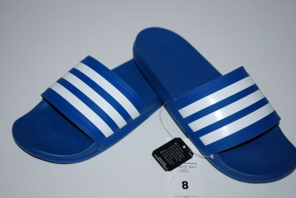 NEW NWT ADIDAS ADILETTE CF ULTRA SLIDES ETQ BLUE WHITE 4-13 mens shower sandals