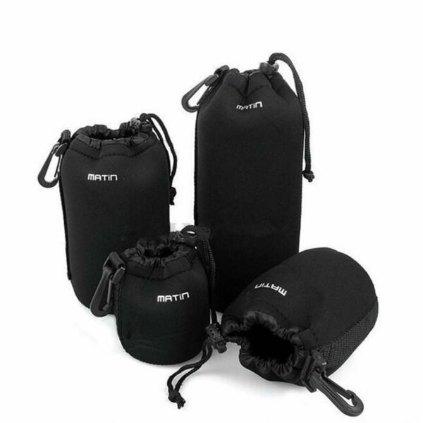 4PCS Neoprene Soft for DLSR Camera Lens Pouch Case Bag Protector SMLXL Size $11.99