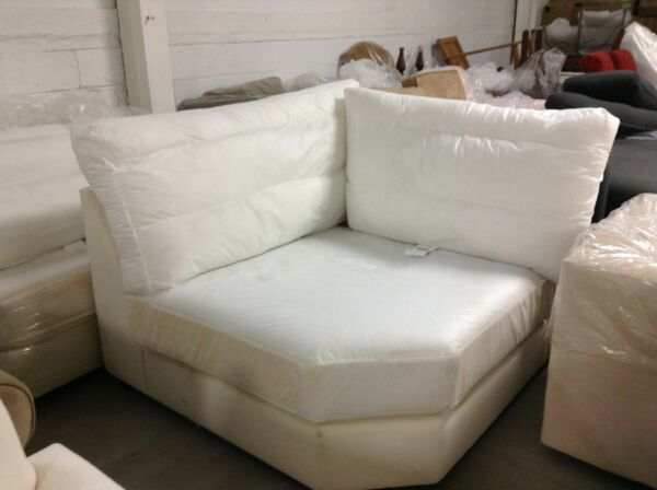 Pottery Barn Comfort Couch Sofa Sectional Piece WEDGE NO COVER corner BOX POLY