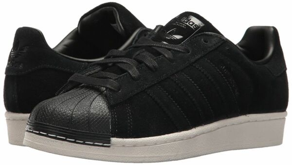NEW* MEN'S ADIDAS SUPERSTAR SHOES BLACK CREAM SHELL TOE BZ0201 SUEDE SNEAKERS