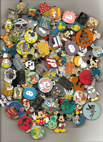 DISNEY PINS 125 PIN mixed lot FASTEST SHIPPER IN USA FREE SHIPPING 100% tradable $58.90