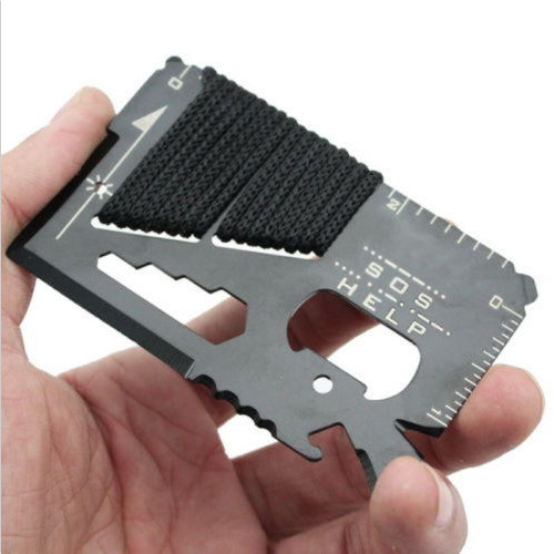 16-in-1 Multi Wallet Pocket Credit Card Knife Camping Outdoor Survival EDC Tools