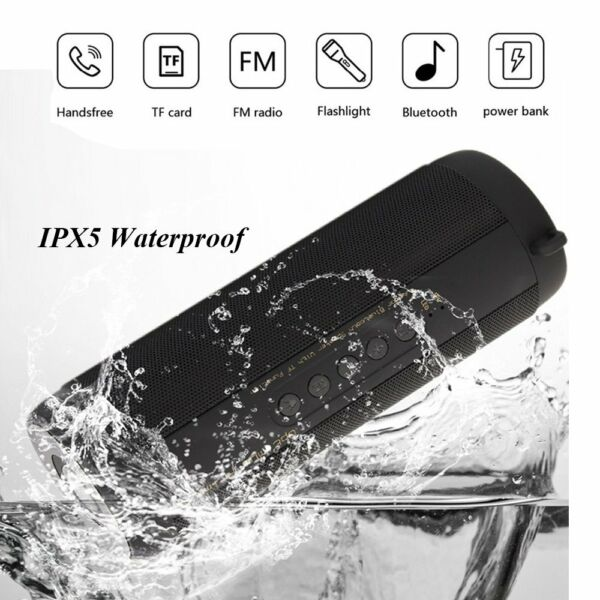 Waterproof Wireless Bluetooth Speaker Super Bass USB/TF/FM Radio Audio Portable