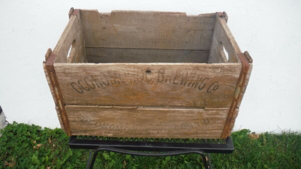 Super Rare Vtg 1930's OCONOMOWOC BREWING CO~A HEALTH BEER~Wood Crate~WISCONSIN
