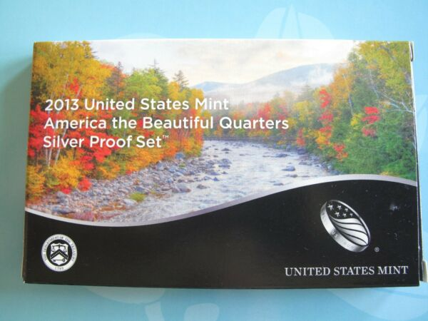 2013-S ATB QUARTER SILVER PROOF SET ORIGINAL MINT PACKAGING and CERTIFICATE $34.50