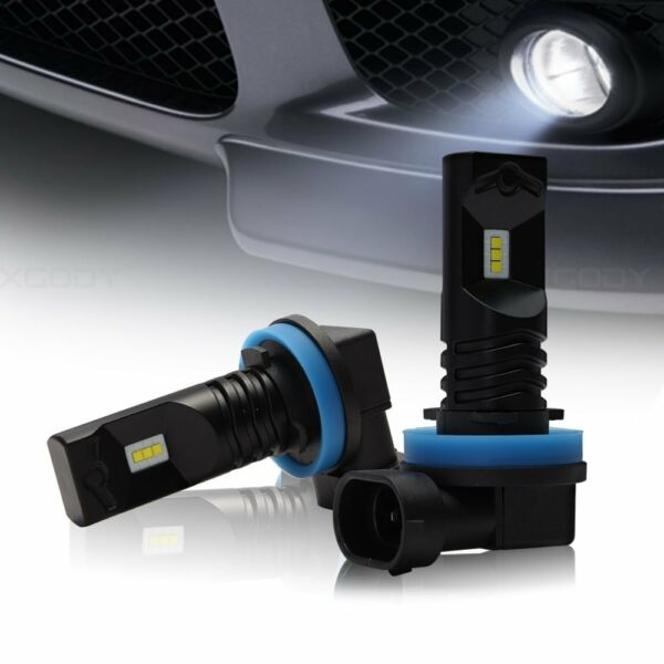 Nighteye H11 H8 1600LM LED 6500K White Fog Light Daytime Running Bulbs 6500K DRL