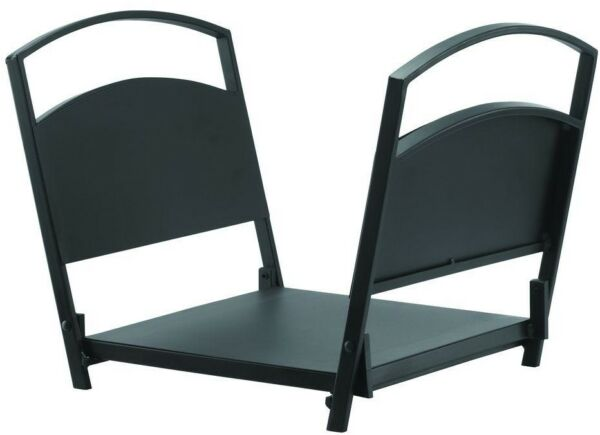 Log Holder 18 in. L x 12 in. W x 12.5 in. H Foldable Outdoor in Black Finish