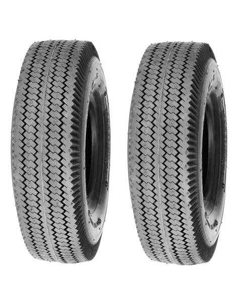 Pack of 2, Deli Tire 4.10/3.50-6, Sawtooth, 4 Ply, Tubeless, Lawn Garden Tires