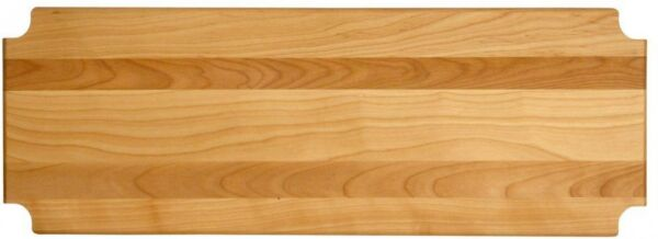 Shelf Inserts Hardwood Metro-Style in Natural Oil Finish with Notched Corners