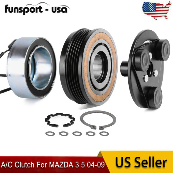 New For Mazda 3 5 04-09 AC Clutch Kit Front Plate Bearing Coil Pulley 140162C $34.99