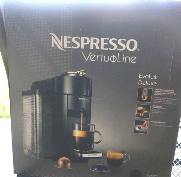 Nespresso VertuoLine Evoluo Deluxe Coffee and Espresso Maker Black Cracked