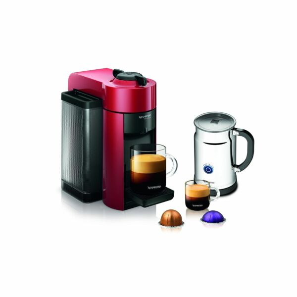 Nespresso A+GCC1-US-RE-NE VertuoLine Evoluo Coffee & Espresso with Aeroccino RED