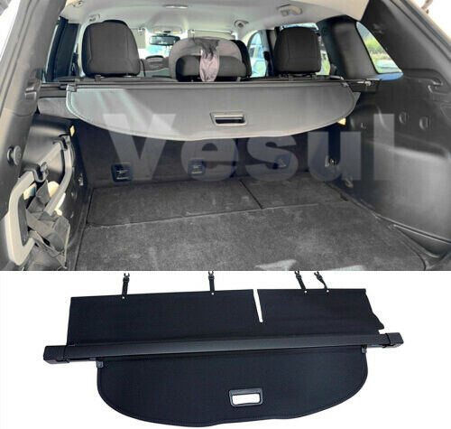 For 2014-2018 Jeep Cherokee Cargo Cover Rear Trunk Security Shield Luggage Shade