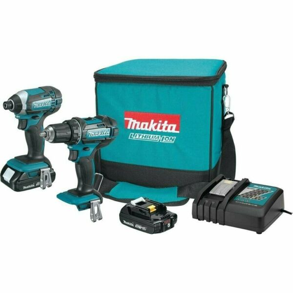 Makita CT225R 18V Compact Lithium-Ion Cordless 2-Pc. Combo Kit (REFURBISHED)