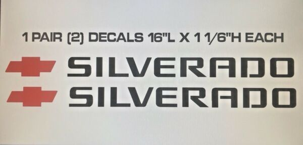 FOR THE CHEVY SILVERADO Hood, Body, Window sticker decals Fits Any Car, truck