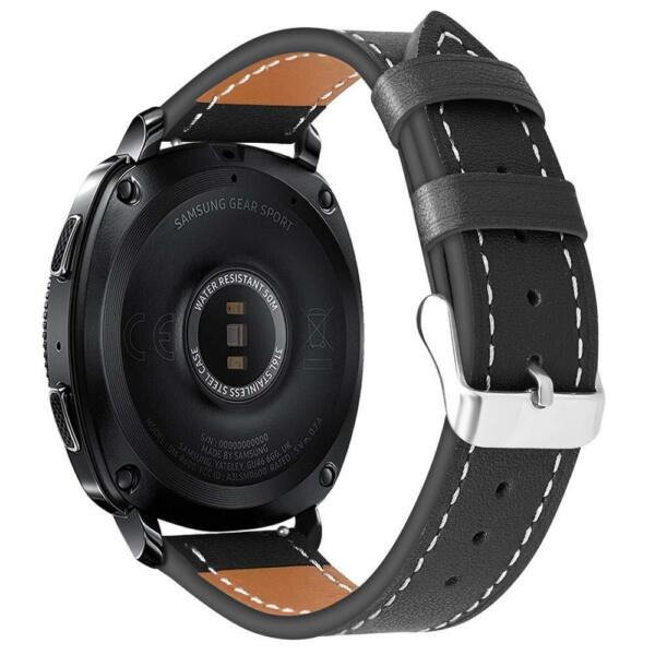 For Gear Sport  Gear S2 Classic  Galaxy Watch 42mm Band Genuine Leather Strap