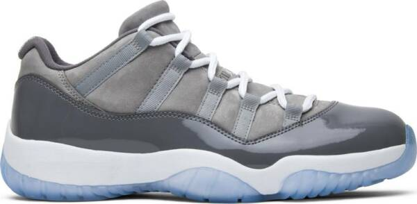 Nike Air Jordan Retro XI 11 Low COOL GREY White 528895-003 Authentic