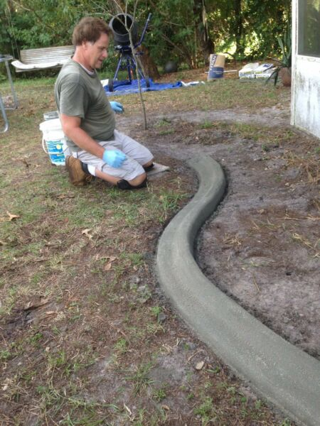 Custom curbing  concrete edging  landscaping DIY The original Curb It Yourself