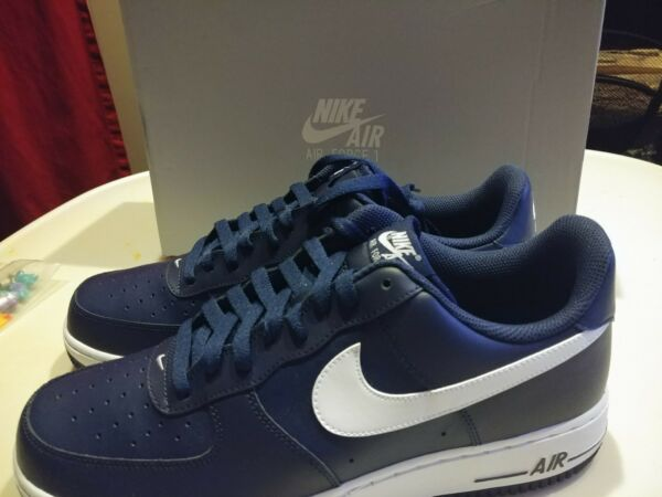 New in box Nike Air Force 1 one  488298 436 Midnight Navy/White  Size 11.5