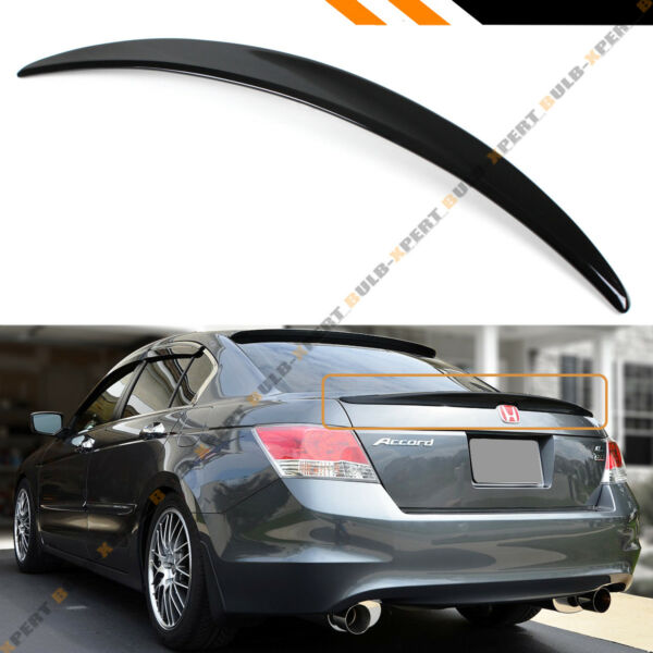 FOR 2008 2012 HONDA ACCORD 4DR SEDAN JDM PAINTED GLOSSY BLACK TRUNK LID SPOILER