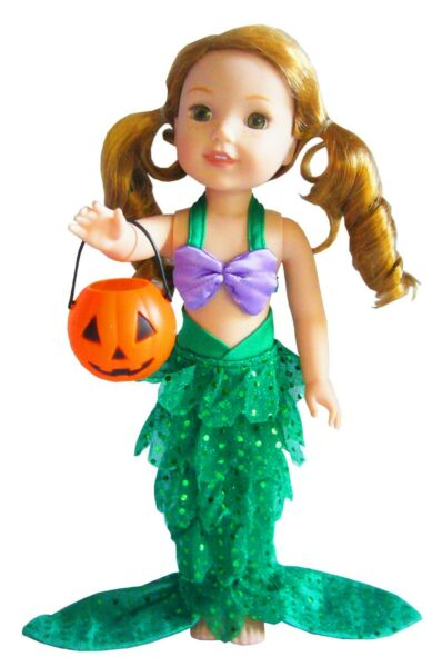 Little Mermaid Costume Halloween For 14.5quot; WELLIE WISHERS Doll Clothes $11.98