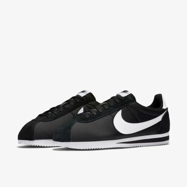 Nike Classic Cortez Nylon Black White Men Shoes Lifestyle Sneakers 807472-011