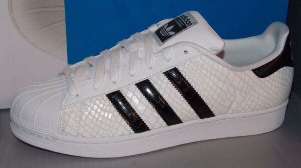 MENS ADIDAS SUPERSTAR in colors WHITE / BLACK / WHITE SIZE 13