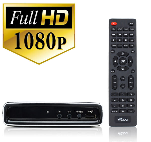 Digital Converter Box for TV w RCA Cord for Watching and Recording HD Channels