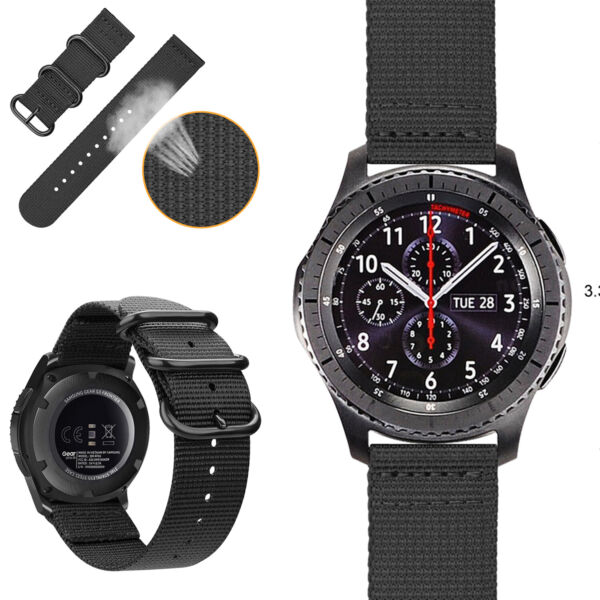 For Galaxy Watch 46mm  Samsung Gear S3 Classic Frontier Bands Nylon Sport Strap